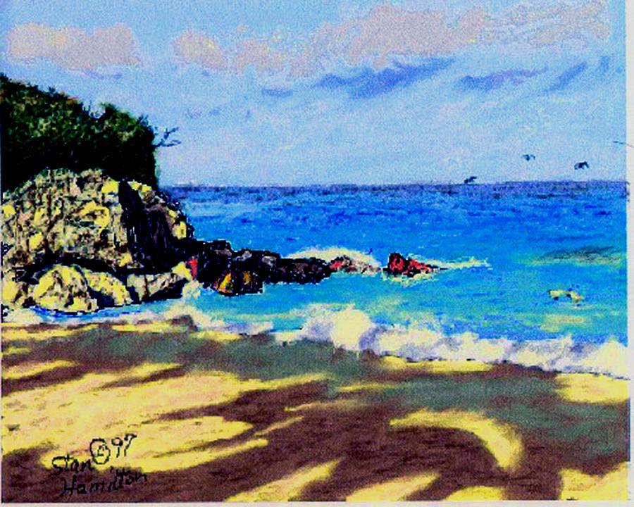 Coast Digital Art - Blue Lagoon Coast by Stan Hamilton