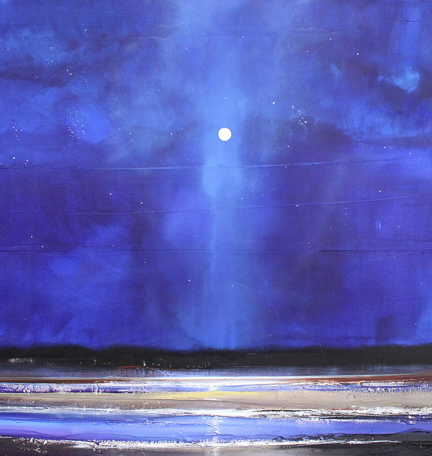 Night Painting - Blue Night Magic by Toni Grote