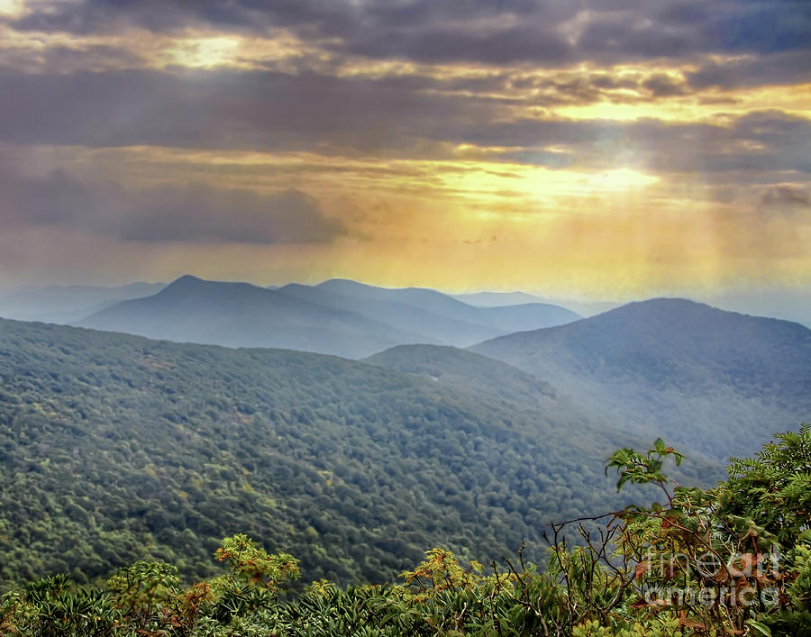 Blue Photograph - Blue Ridge Sunset by James Foshee