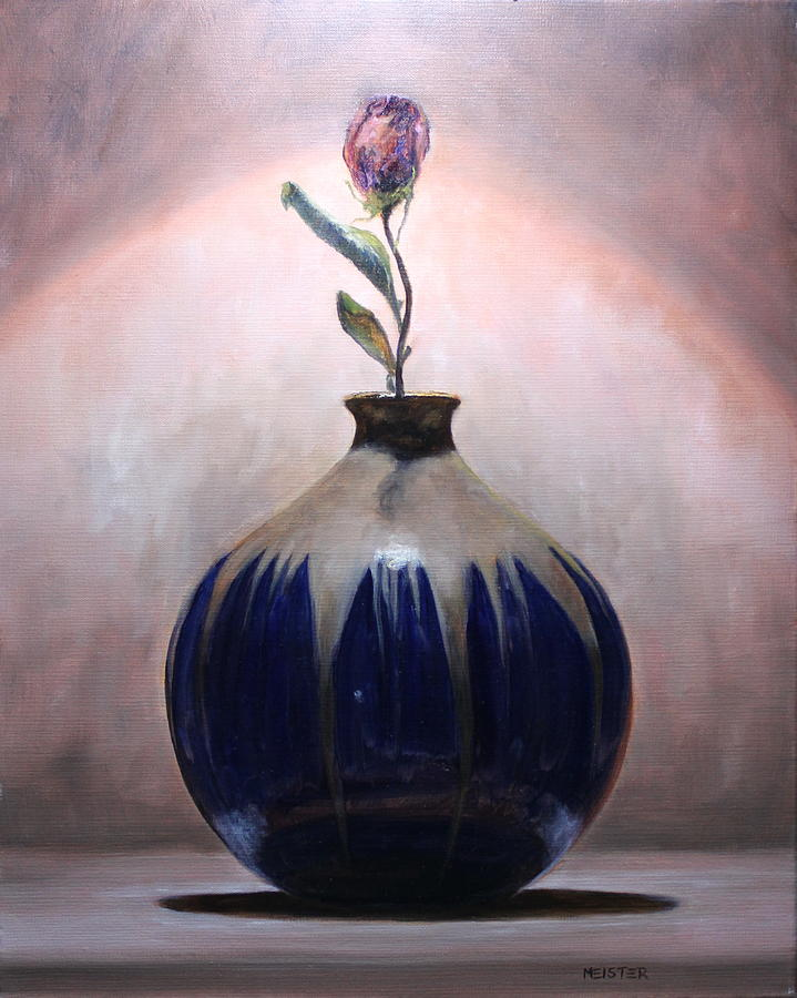 Blue Vase Painting by Richard Meister