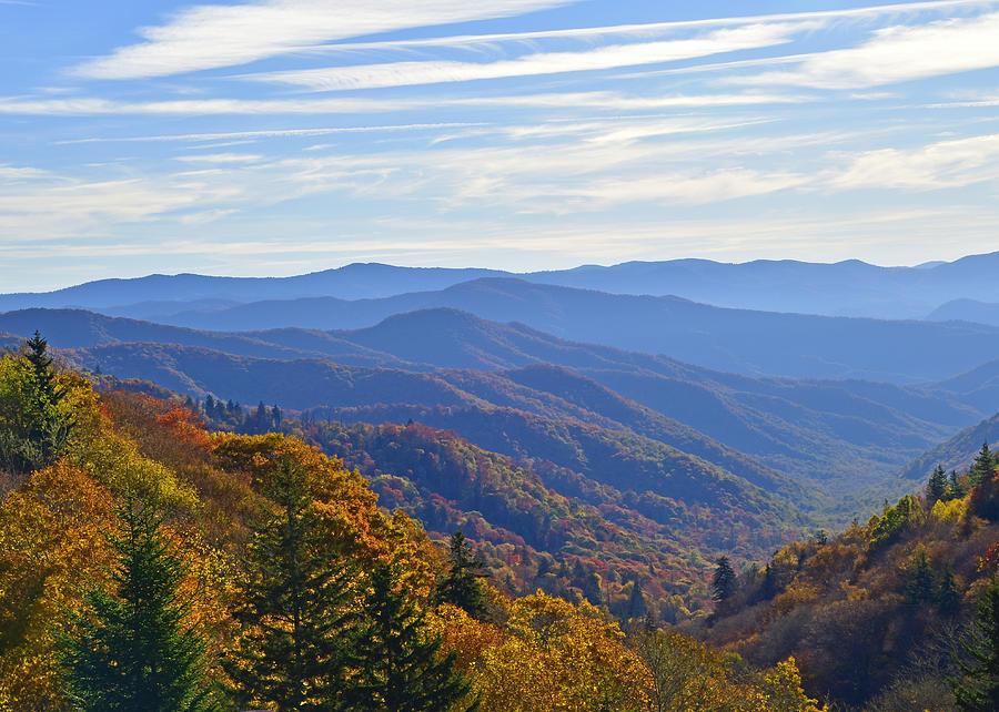 Keisling Photograph - Blue Ridge Parkway View by Ann Keisling