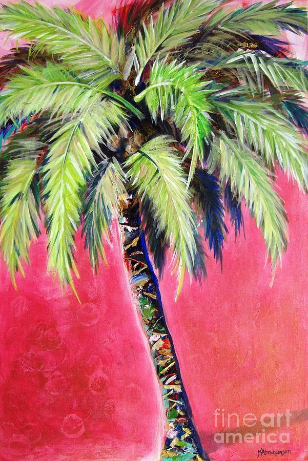 Blushing Pink Palm by Kristen Abrahamson