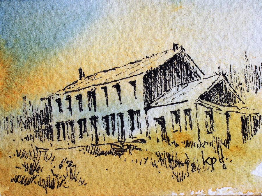 Ghost Town Mixed Media - Boardinghouse Cable Ghost Town Montana by Kevin Heaney