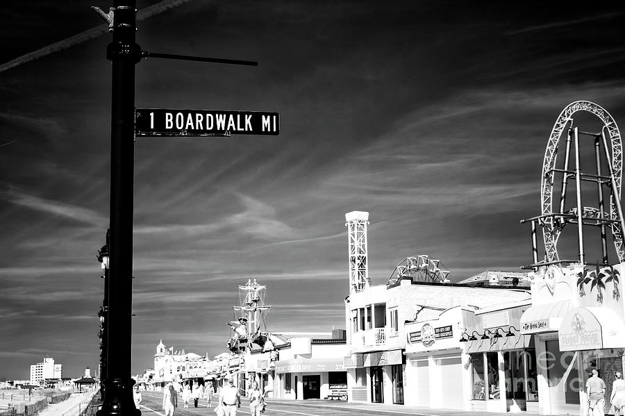 Boardwalk Photograph - 1 Boardwalk Mile At Ocean City Infrared by John Rizzuto