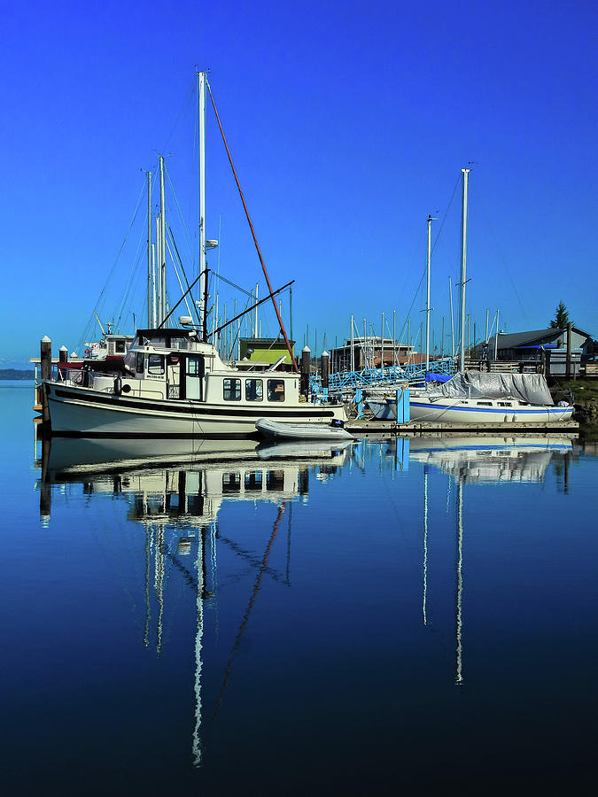 Boat Reflection  by Tony Porter Photography