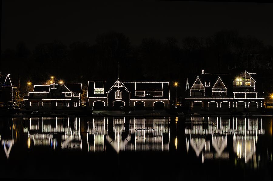 Boathouse Row Photograph - Boathouse Row - Philadelphia by Brendan Reals