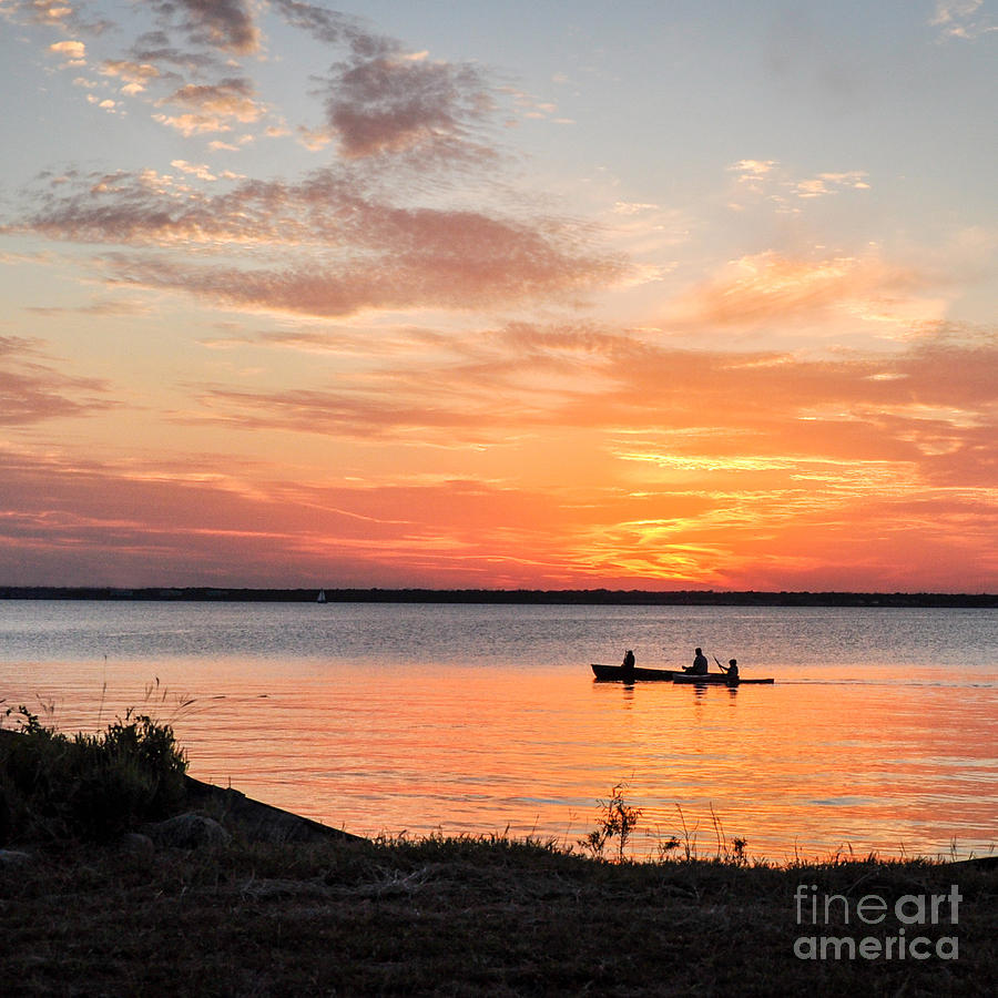 Boating Photograph - Boating Sunset by Cheryl McClure