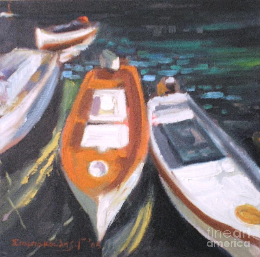 Boats Painting by George Siaba