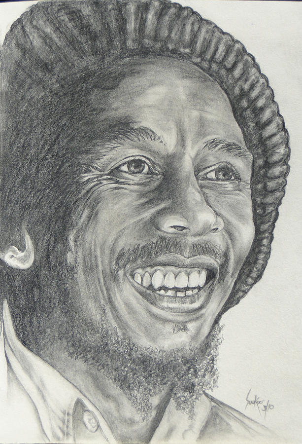 Bob Marley Drawing - Bob Marley by Stephen Sookoo