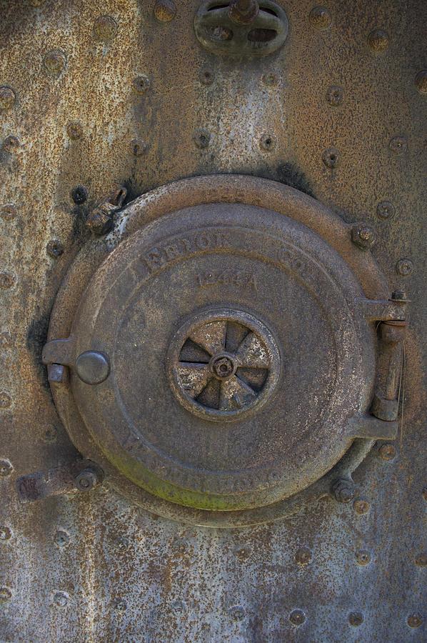 Texture Photograph - Boiler Tank by Linda Geiger