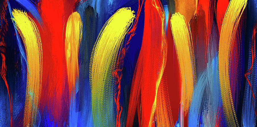be bold primary colors abstract art painting by lourry legarde