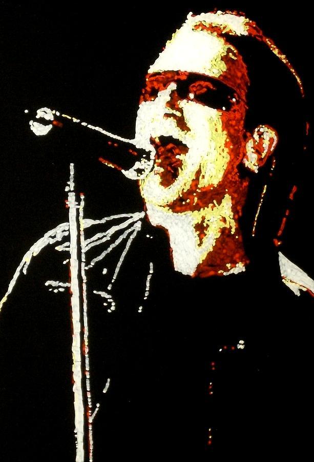 U2 Painting - Bono by Grant Van Driest