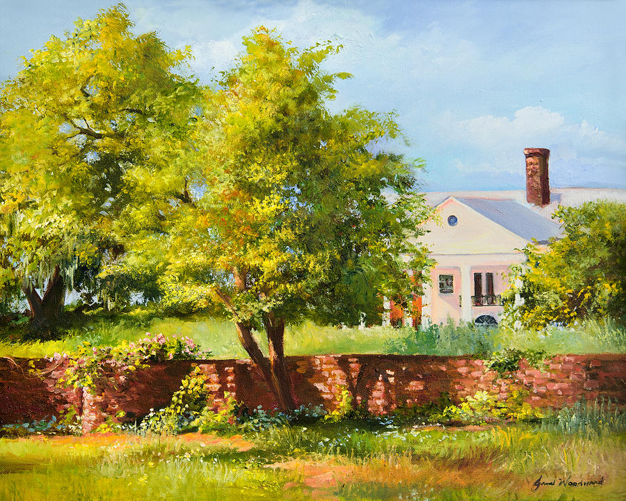 Plantation Home Painting - Boone Hall Plantation by Jane Woodward