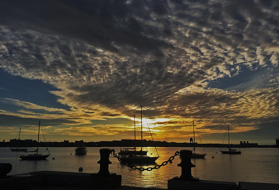 Boston Harbor Sunrise by Rick Macomber