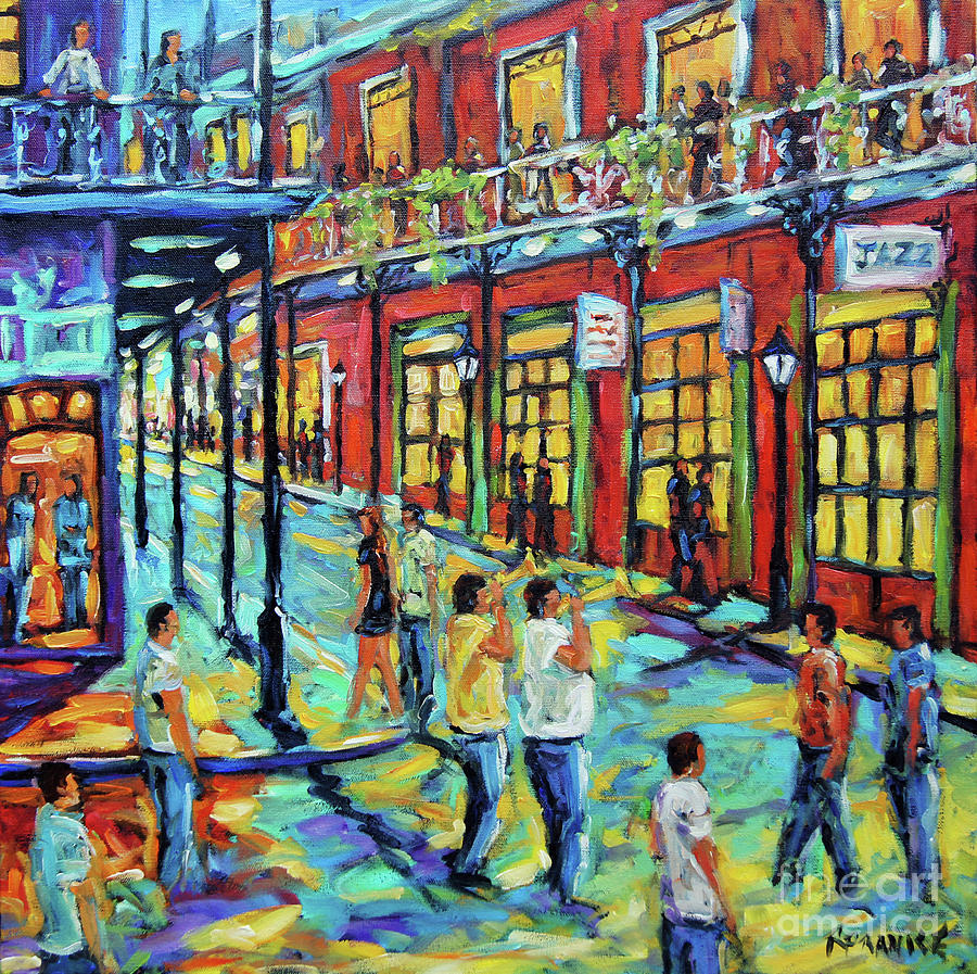 Bourbon Street New Orleans by Prankearts by Richard T Pranke