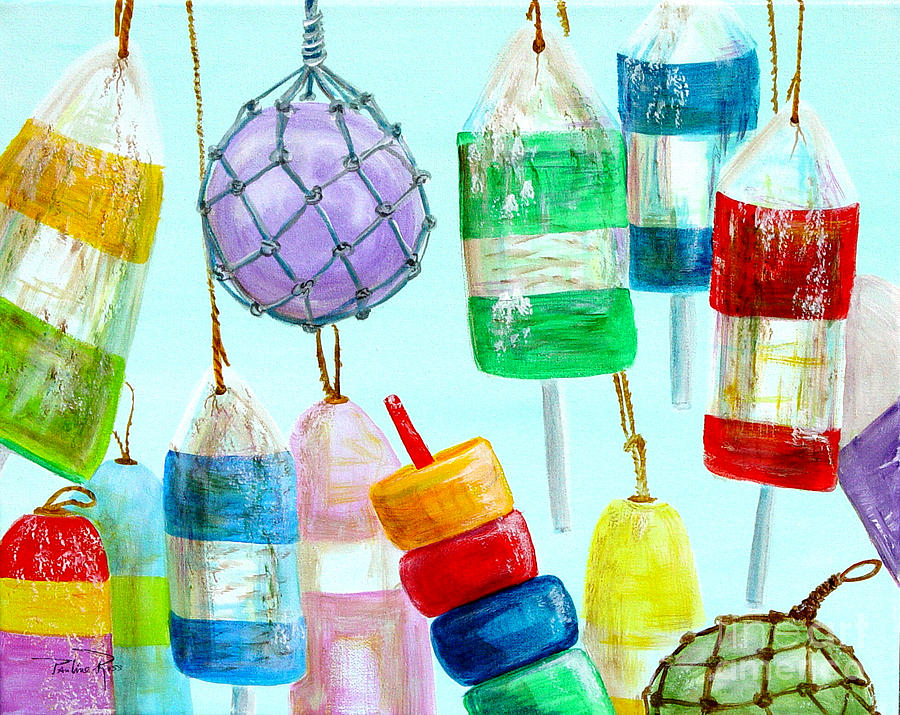 Fishing Painting - Bouys Iv by Pauline Ross