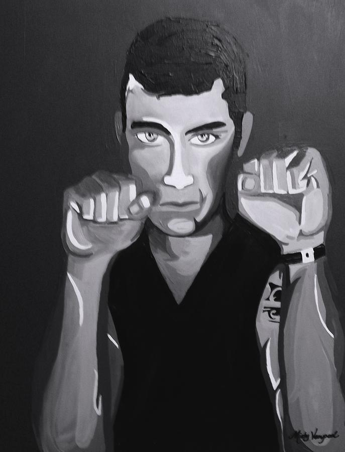 Boxer Painting - Boxer Monotone by Misty VanPool