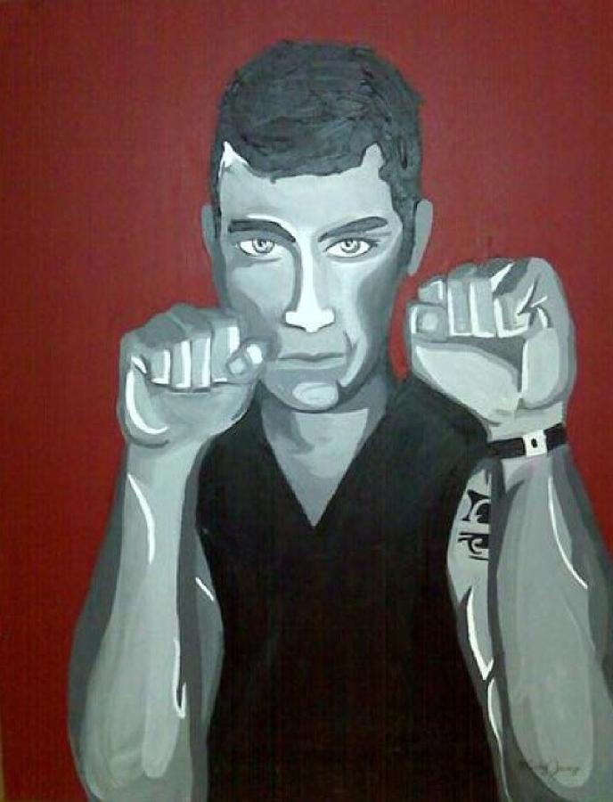 Boxer Painting - Boxer Sees Red by Misty VanPool