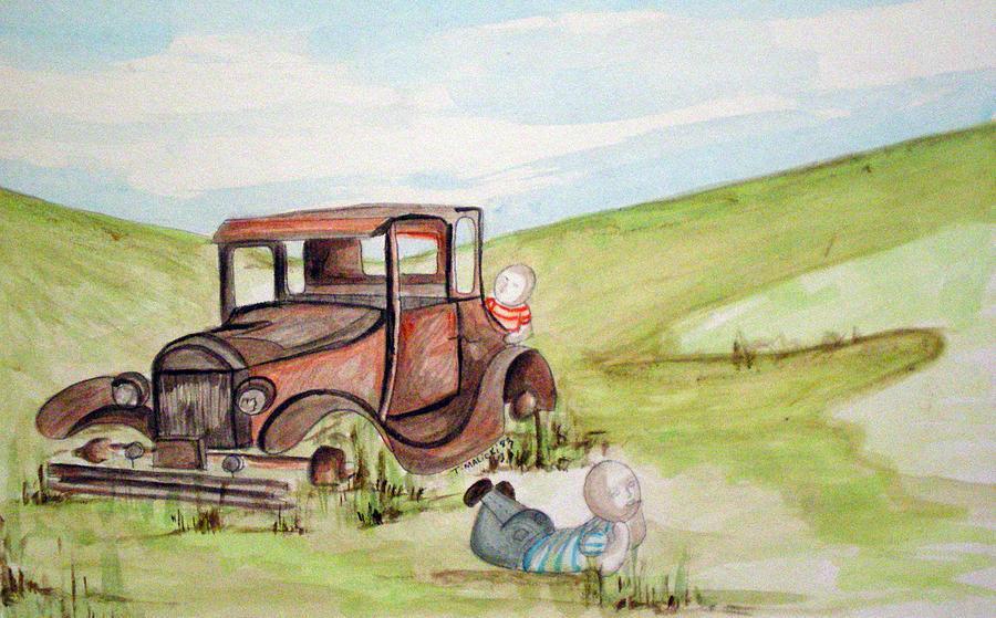Boyhood Painting - Boys Being Boys by Tammera Malicki-Wong