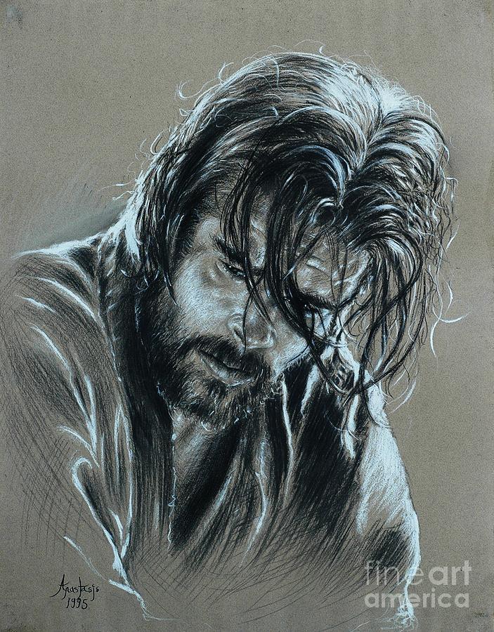 Brad Pitt Painting - Brad Pitt by Anastasis  Anastasi