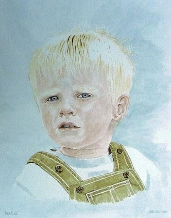 Boy Painting - Bradley by Frank Hamilton