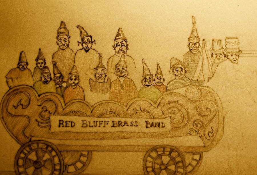 Brass Band Drawing - Brass Band by Lee M Plate