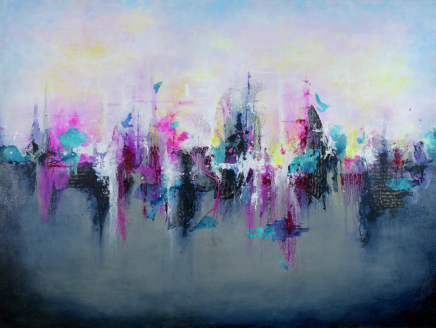 Abstract Painting - Breaking Boundaries  by Jenny Bagwill