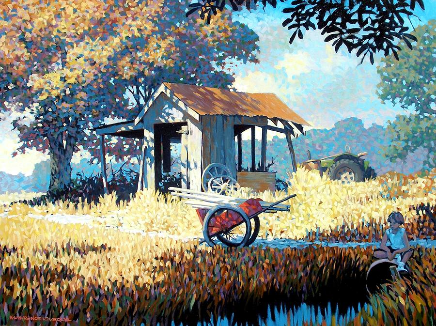 Cart Painting - Breaktime by Kevin Lawrence Leveque