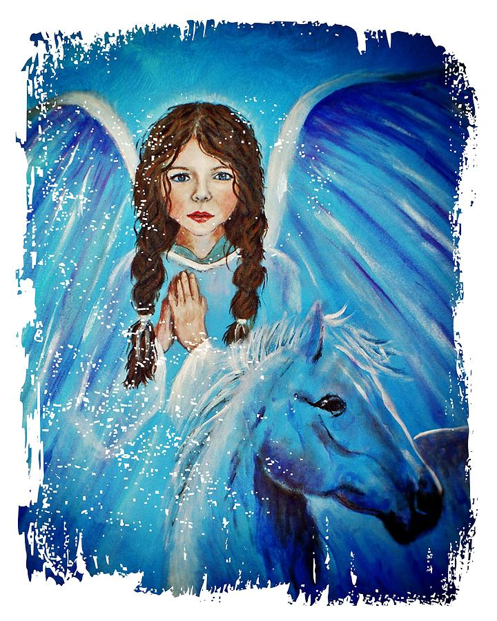 Angel Painting - Brianna Little Angel Of Strength And Courage by The Art With A Heart By Charlotte Phillips
