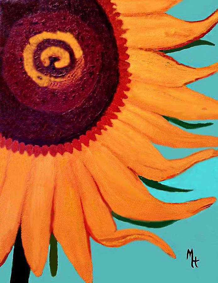 Sunflower Painting - Bright Happy Sunflower by Margaret Harmon