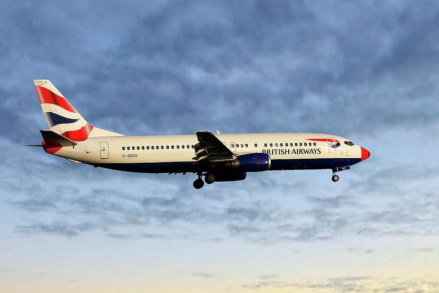 British Airways Photograph - British Airways Boeing 737-436 by Smart Aviation