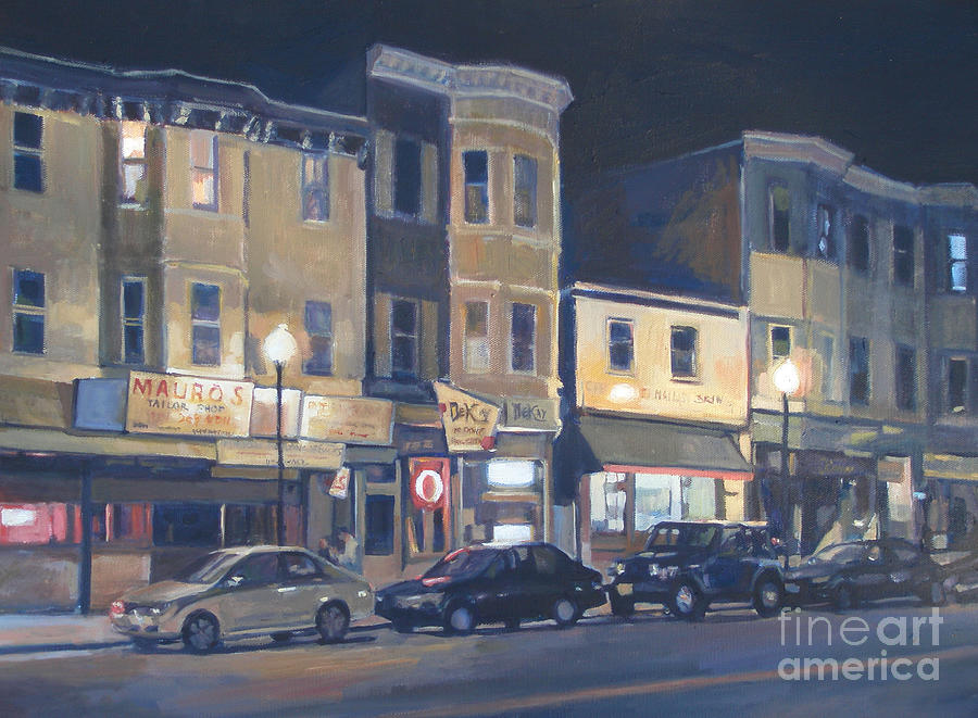 Broadway Painting - Broadway Nocturne by Deb Putnam
