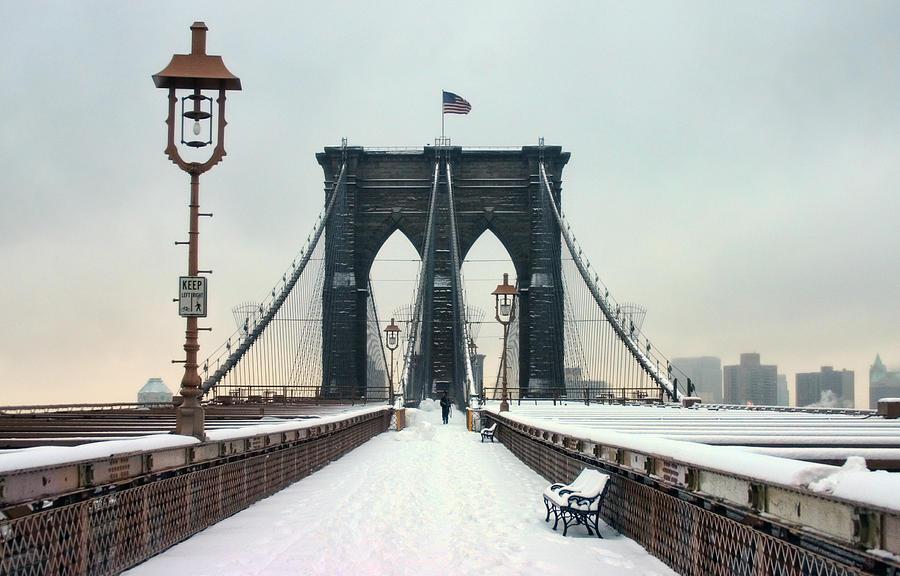 Nyc Photograph - Brooklyn Bridge by June Marie Sobrito