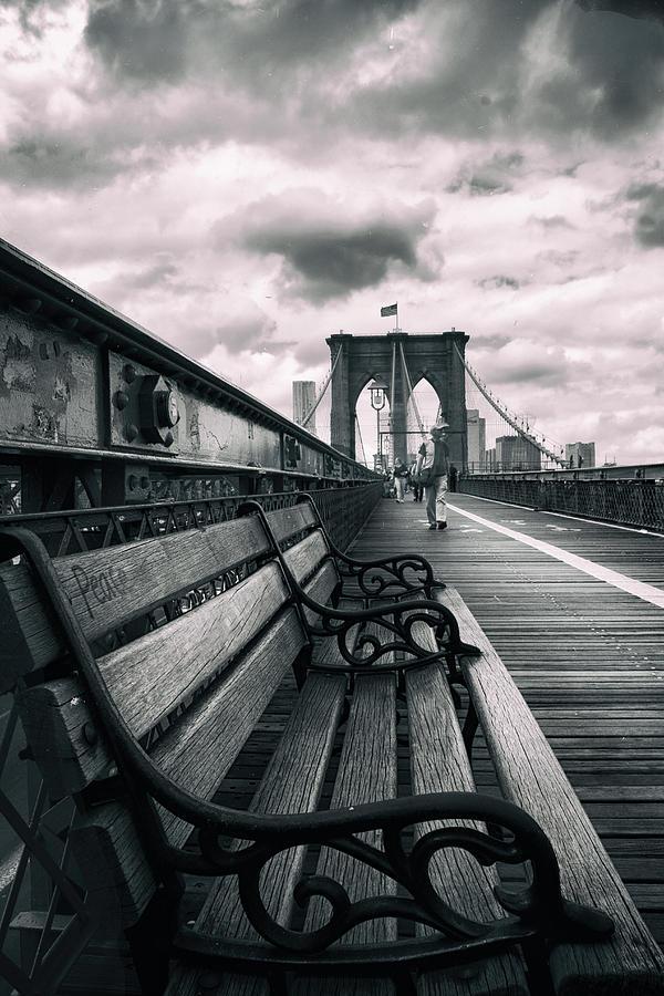 Brooklyn Bridge Photograph - Brooklyn Bridge Mood 2 by Jessica Jenney