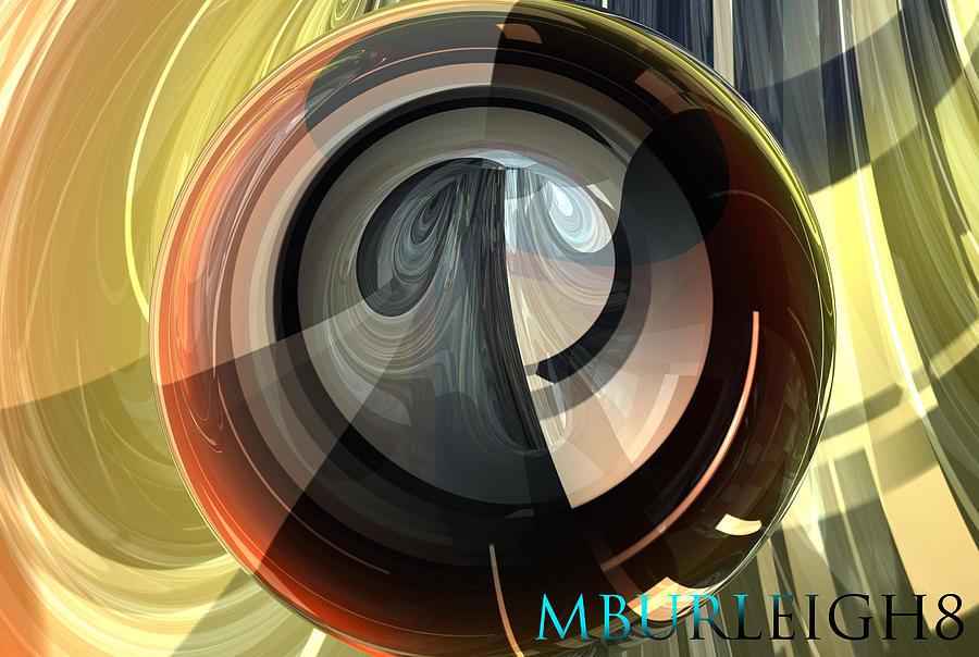 Bryce Digital Art - Bryce Orb by Michael Burleigh