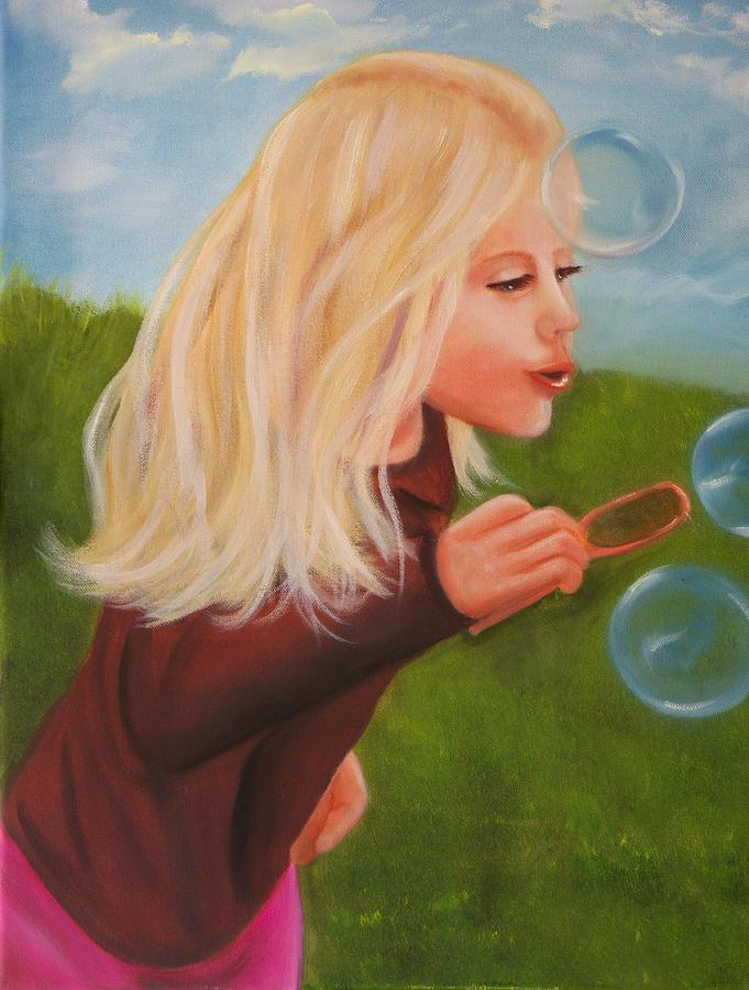 Portrait Painting - Bubbles by Joni McPherson