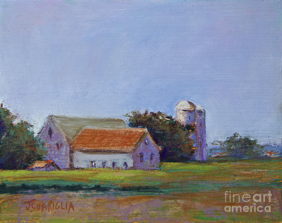 Barns Pastel - Bucks County Barn by Joyce A Guariglia