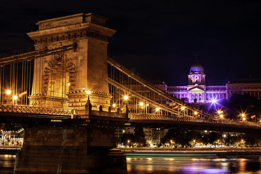Chain Photograph - Budapest City By Night by Artur Bogacki