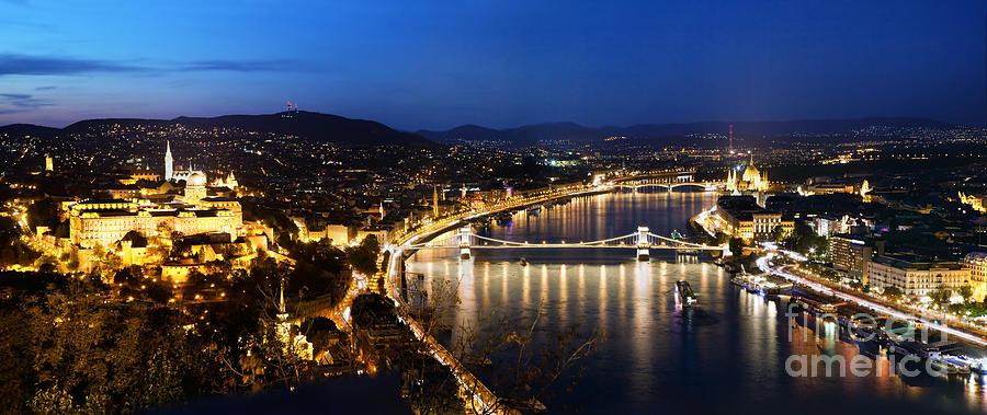 Budapest Photograph - Budapest. View From Gellert Hill by Michal Bednarek
