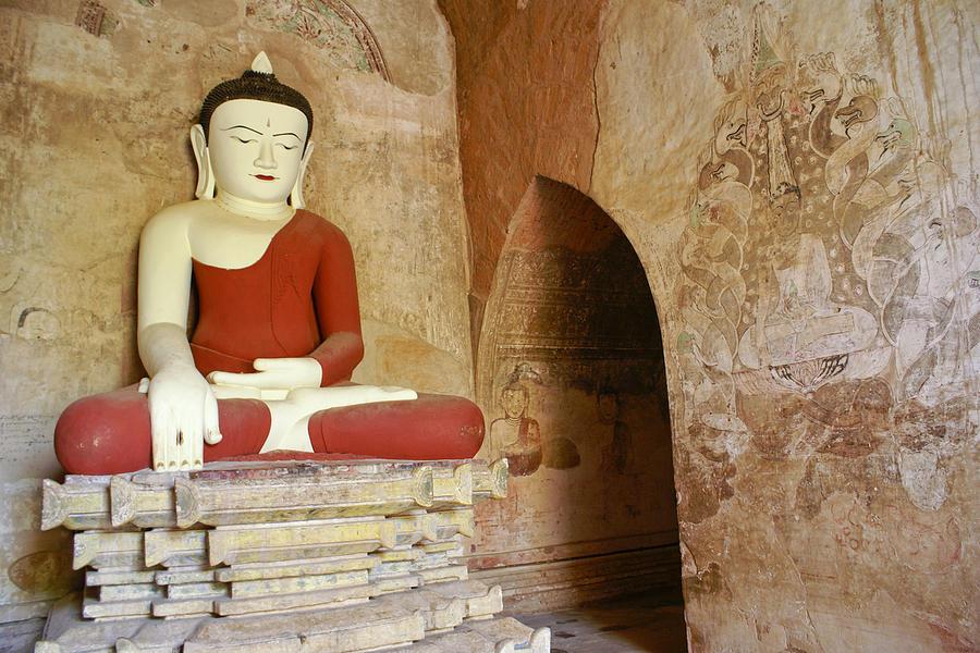 Buddha Photograph - Buddha in a Niche by Michele Burgess