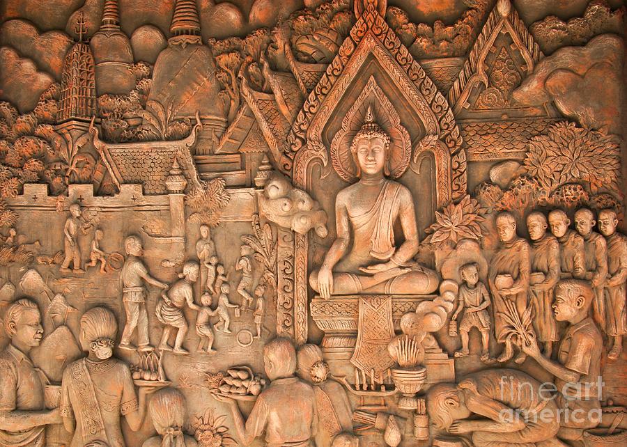 Abstract Photograph - Buddha by Niphon Chanthana