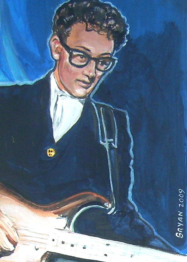 Buddy Holly Painting - Buddy Holly by Bryan Bustard