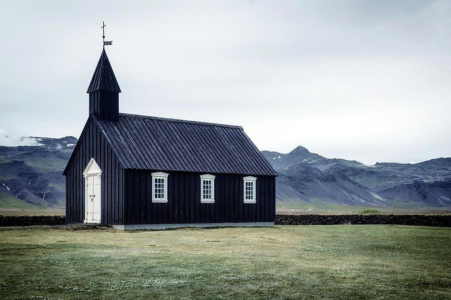 Black Church Photograph - Budir - Iceland by Joana Kruse