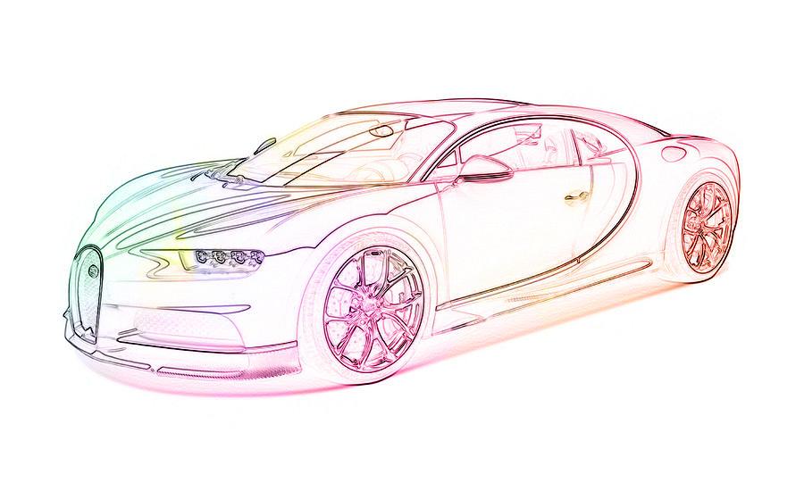 Bugatti Chiron by PixBreak Art