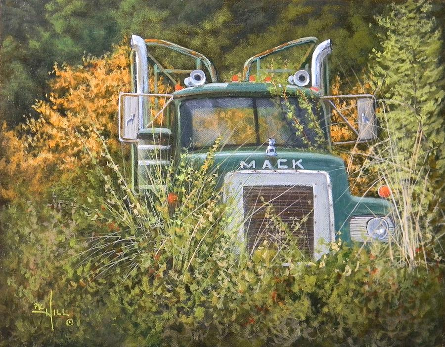 Mack Painting - Bulldog In The Bushes by Paul K Hill