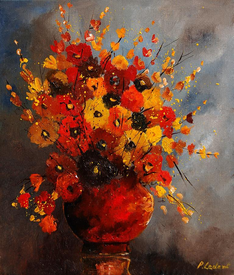 Flowers Painting - Bunch 0708 by Pol Ledent