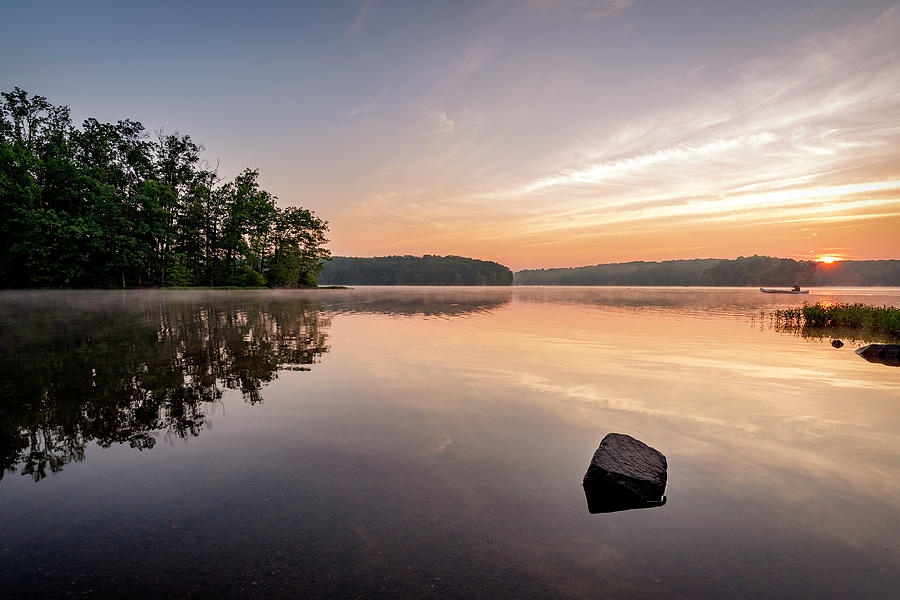 Alexandria Photograph - Burke Lake Reflection by Michael Donahue
