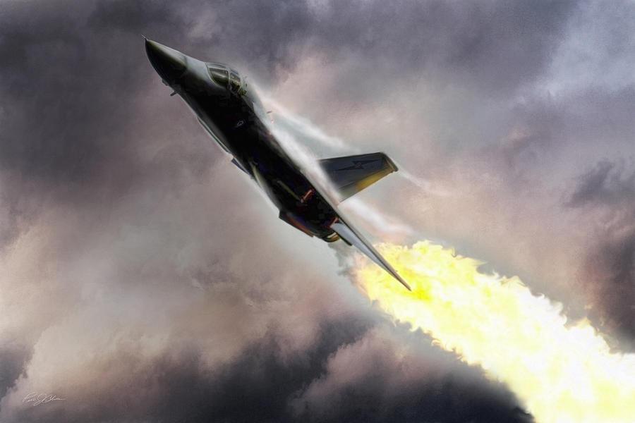 Aviation Digital Art - Burning Sky by Peter Chilelli