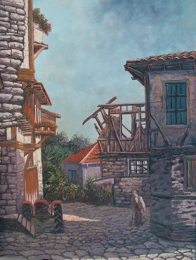 Landscape Painting - Bursa Cumalikizik by Charalampos Laskaris