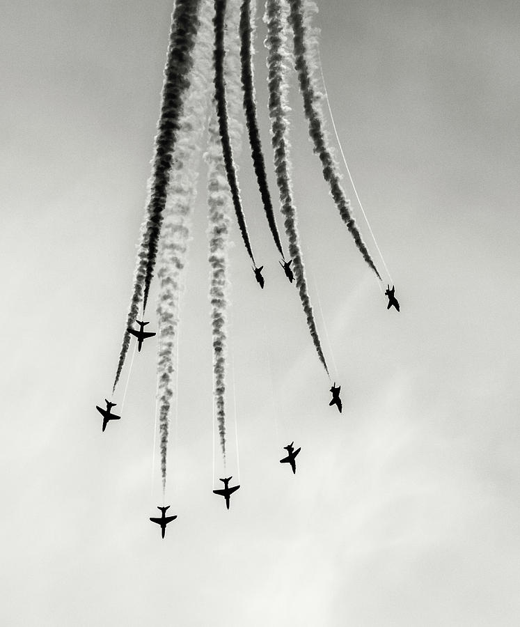 Red Arrows Photograph - Burst. by Angela Aird